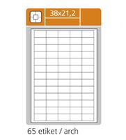 Etikety samolepicí 38 x 21,2 mm  100 archů