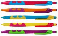 Kuličkové pero Happy mix barev