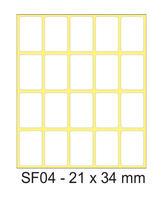 Etikety samolepicí 21x34mm 200 archů