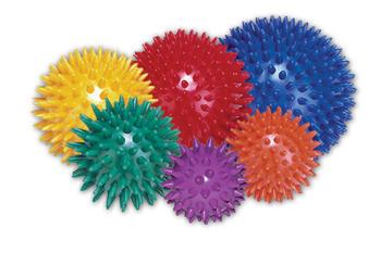 Masážní míček ježek Ø 9cm, červený  - 1