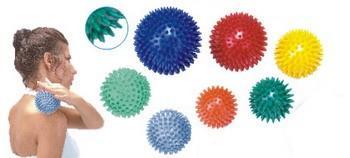 Masážní míček ježek Ø 9cm, červený  - 2