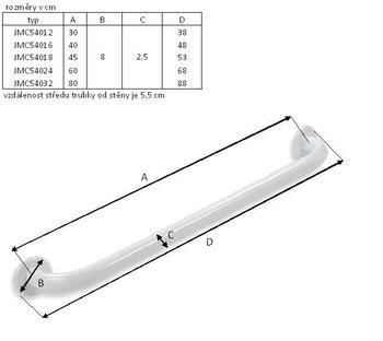Madlo kovové 30cm  - 2