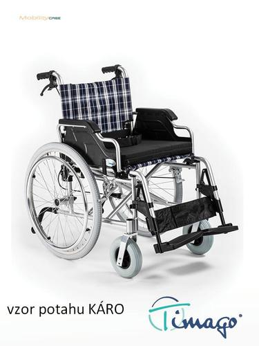 Invalidní vozík Timago FS 908 LJQ - 46 cm / káro / 100kg