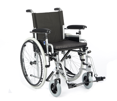 Invalidní vozík Timago H011 40 cm / stříbrná, nosnost 115 kg