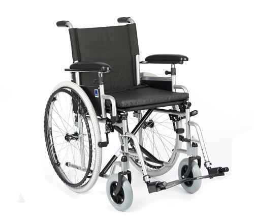 Invalidní vozík Timago H011 43 cm / stříbrná, nosnost 115 kg